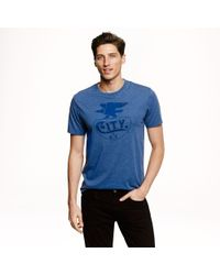 J.Crew - Blue Preorder City Graphic Tee for Men - Lyst