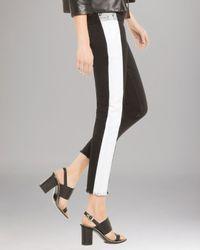 Sandro Black Pants Particulier Tuxedo Stripe