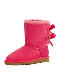 UGG Pink Bailey Boot With Bow