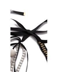 By Malene Birger - Black Embracia Necklace - Lyst