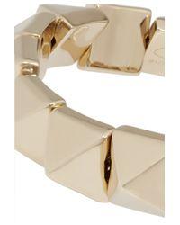 Valentino - Metallic Sliding Studs Gold-Plated Bracelet - Lyst