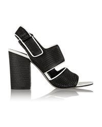 Alexander Wang - Black Sara Mesh-Effect Leather Sandals - Lyst