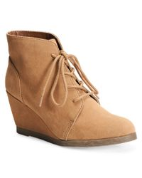 Madden Girl | Natural Domain Lace-up Wedge Boot | Lyst