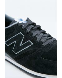 New Balance   420 Black Suede Trainers for Men   Lyst