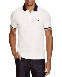 Lacoste - White Stretch Cotton Slim Fit Polo for Men - Lyst