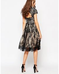 Y.A.S Black Alexis Lace Overlay Dress