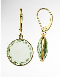 Lord & Taylor | Green Amethyst Drop Earrings In 14 Kt. Yellow Gold | Lyst