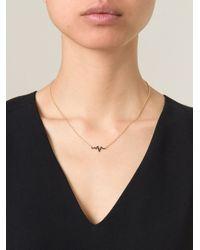 Mr Start - Metallic 'Heartbeat' Necklace - Lyst