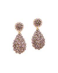 Oscar de la Renta - Purple Teardrop Clip On Earrings Lilac - Lyst