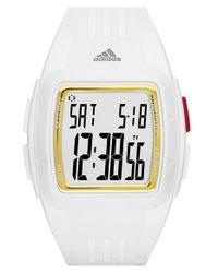 Adidas Originals - White 'duramo' Digital Watch - Lyst