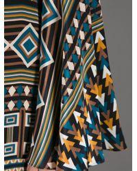 Issa Brown Printed Tunic Dress