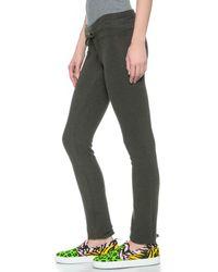 Wildfox Malibu Skinny Sweatpants - Vintage Black