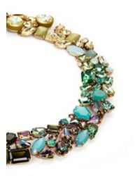 J.Crew Green Ombré Crystal Necklace
