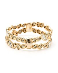 Alexis Bittar | Metallic Moonlight Stacked Rocky Hinged Bracelet | Lyst