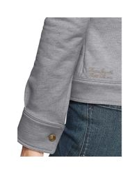 Ralph Lauren - Gray French Terry Long Sleeve Top - Lyst