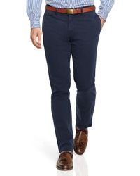 Ralph Lauren Blue Polo Straight-fit Bedford Chino Pants for men