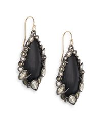 Alexis Bittar | Black Imperial Noir Lucite, Pyrite & Crystal Lace Drop Earrings | Lyst