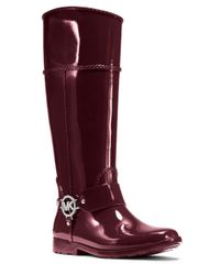 MICHAEL Michael Kors | Purple Fulton Harness Rain Boots | Lyst
