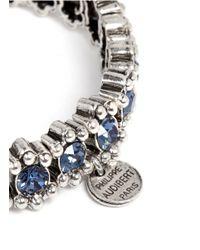 Philippe Audibert - Blue New Amelia Bead And Crystal Embellished Elasticated Bracelet - Lyst