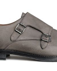 H&M Gray Leather Monk Straps for men