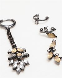 Zara | Metallic Crystal Earrings | Lyst