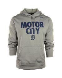 Nike Gray Mens Detroit Tigers Motor City Hoodie for men