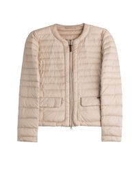 Woolrich - Pink Quilted Down Jacket - Lyst
