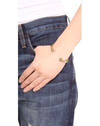 Giles & Brother Metallic Skinny Hooves Cuff Bracelet - Antique Brass