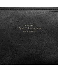Smythson Black North South Tote for men