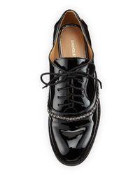 Badgley Mischka - Black Larke Patent Leather Lace-Up Oxford - Lyst