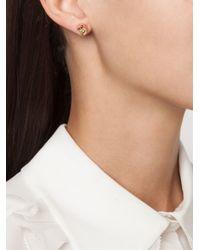 Eddie Borgo Pink Triangle Embellishment Round Earrings