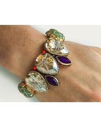 St Erasmus | Multicolor Crystal Teardrop Bracelet | Lyst