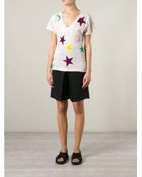 Stella McCartney Pink Star Print T-shirt
