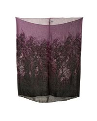 Calvin Klein | Purple Forest Print Infinity | Lyst