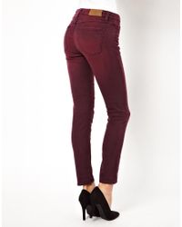 IRO | Purple Washed Skinny Jeans | Lyst