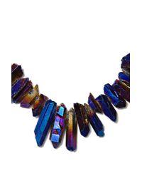 Nasty Gal - Black Crystal Galaxy Necklace - Lyst