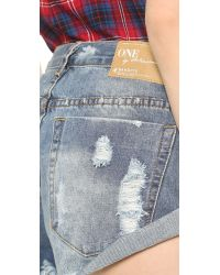One Teaspoon Blue Ford Bandit Jeans - Ford