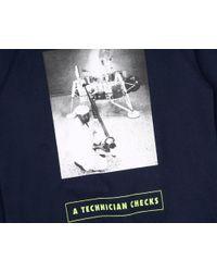 BBCICECREAM Blue Technician Checks Crewneck - Navy for men