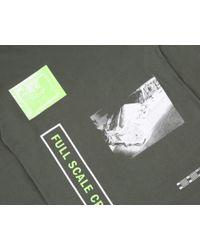 BBCICECREAM Green Full Scale Crash L/s T-shirt - Olive for men