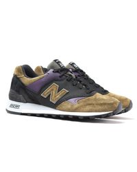 New Balance Made In England M577 Sage Green Suede Trainers for men