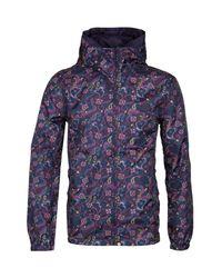 Pretty Green Purple Paisley Ashworth Waterproof Jacket for men