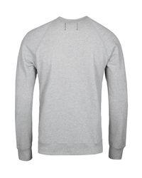 Reigning Champ Gray Grey Crew Sweatshirt for men