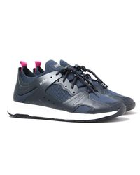 BOSS by Hugo Boss Blue Titanium Run Hiking Lacing System Navy Trainers for men