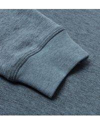 Farah - Tiller Stellar Marl Blue Crew Neck Sweatshirt for Men - Lyst