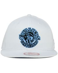 KTZ | White Cleveland Cavaliers Hwc Legend Blue Hook 9Fifty Snapback Cap for Men | Lyst