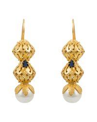 Kastur Jewels - Metallic Heritage Pearl & Blue Lapis Earrings - Lyst