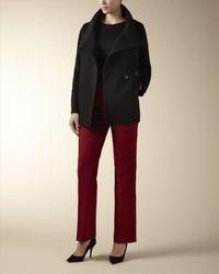 Jaeger Black Wool Short Cocoon Coat