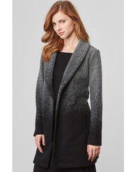 BB Dakota | Black Evan Ombre Woolen Coat | Lyst