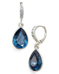 Givenchy | Blue Pear Drop Earrings | Lyst
