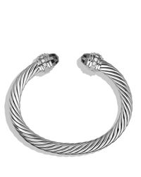 David Yurman | Metallic Cable Classics Bracelet With Hematine And Diamonds | Lyst